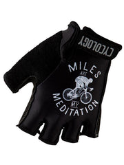 Miles are my Meditation Black Cycling Gloves | Cycology Clothing