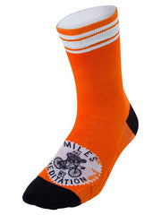 Miles are my Meditation (Orange) Cycling Socks
