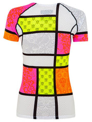 Mondrian Womens White Base Layer | Cycology Clothing