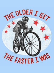 The Faster I Was Mens Grey Cycling T-Shirt