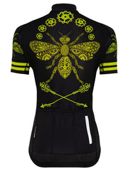 Queen Bee Womens Black Cycling Jersey | Cycology Clothing