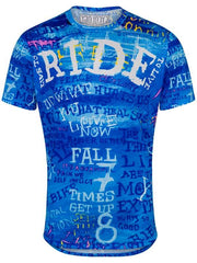 Ride Mens Cycling Blue Technical T Shirt | Cycology Clothing
