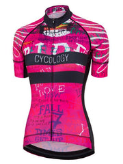 Ride Womens Short Sleeve Pink Cycling Jersey | Cycology Clothing