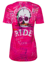 Ride Womens Pink Technical T shirt | Cycology Clothing