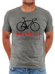 Rather be Riding Mens Dark Grey Cycling T-shirt