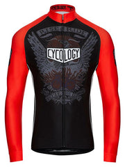 Sieze the Day Mens Long Sleeve Black Cycling Jersey