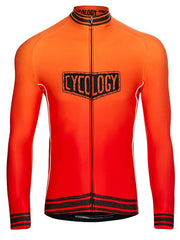 Spin Doctor Mens Red Long Sleeve Cycling Jersey | Cycology Clothing