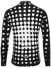 Spot Me Mens Black Long Sleeve Cycling Jersey | Cycology