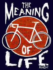 Meaning Of Life Navy Womens Cycling T shirt