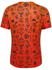 Tri Tattoo Mens  Orange Short Sleeve Technical Tee | Cycology UK