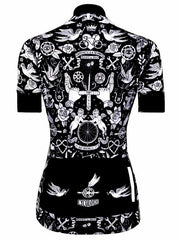 Velo Tattoo Womens  Black Cycling Jersey | Cycology AUS