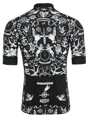 Velo Tattoo Mens Black Cycling Jersey | Cycology Clothing AUS