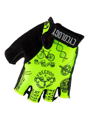 Velosophy Lime Cycling Gloves | Cycology Clothing