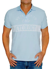Vintage Vetements Mens Light Blue Polo