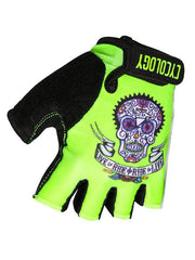 Day of the Living Lime Cycling Gloves | Cycology Clothing AUS