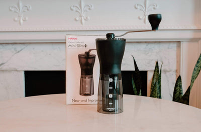 Hario Slim Coffee Mill coffee Mom 'n 'em Coffee & Wine Cincinnati Natural Wine and Coffee Shop