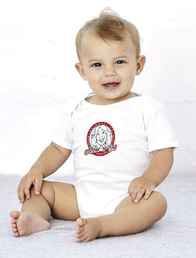 Baby Jersey One Piece Merchandise Mom 'n 'em Coffee & Wine Cincinnati Natural Wine and Coffee Shop
