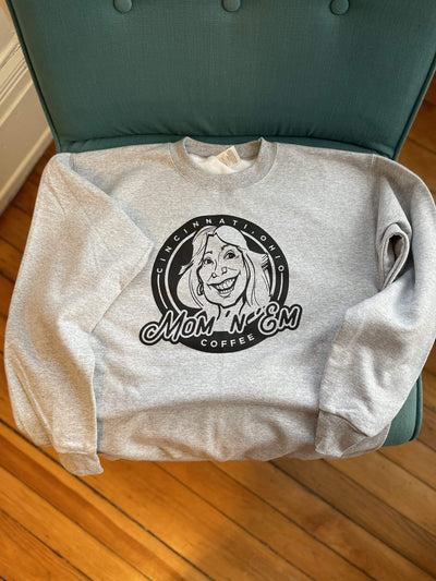 Mom 'n 'em Coffee Sweater Merchandise Mom 'n 'em Coffee & Wine Cincinnati Natural Wine and Coffee Shop
