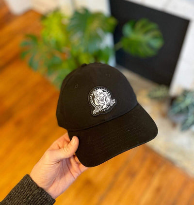Mom 'n 'em Dad Hat Merchandise Mom 'n 'em Coffee & Wine Cincinnati Natural Wine and Coffee Shop
