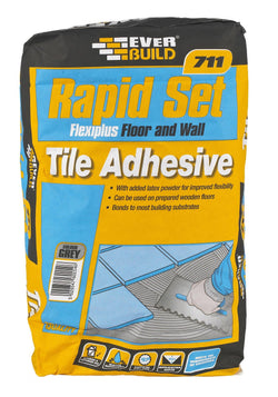 Everbuild 711 Rapid Set Flexiplus Tile Adhesive - HomeFix