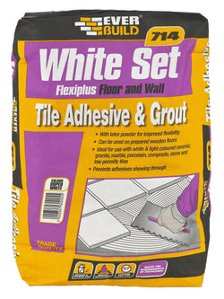 Everbuild 714 White Set Flexiplus Tile Adhesive & Grout - HomeFix