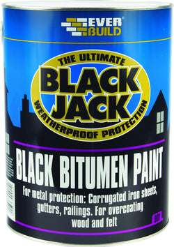 Everbuild Black Jack 901 Black Bitumen Paint - HomeFix