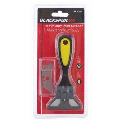 Blackspur Heavy Duty Paint Scraper With 3 Spare Blades - HomeFix