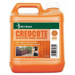 light brown creosote or creocote outdoor timber treatment