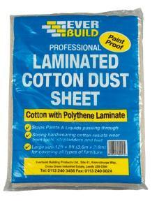Everbuild Laminated Cotton Dust Sheets - HomeFix
