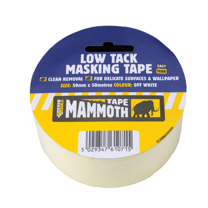 Everbuild Mammoth Low Tack Masking Tape - HomeFix