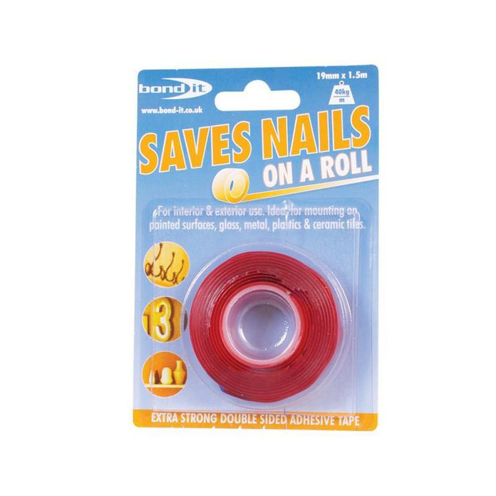 Bond-It Saves Nails Double Sided Adhesive Tape - HomeFix