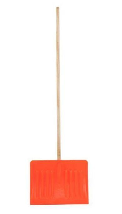 Snow Pusher with Wooden Pole - HomeFix
