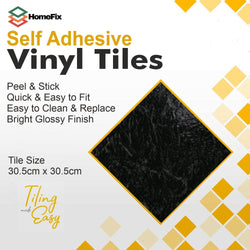 black slate adhesive floor tiles