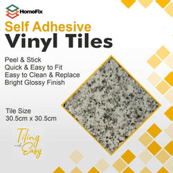 grey or gray granite stone peel and stick self adesive floor tile
