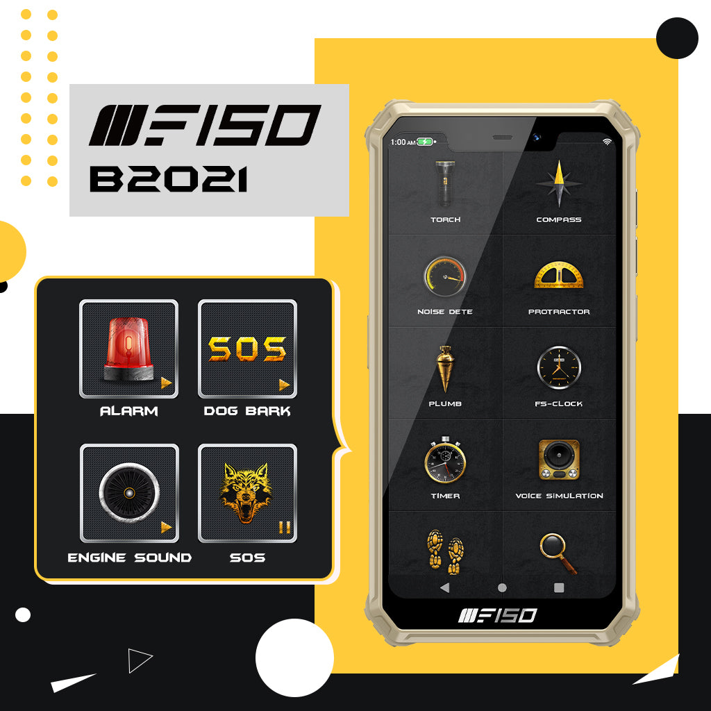 F150 B2021 tools such as torchlight, compass, potractor, noise decibel measure and many more