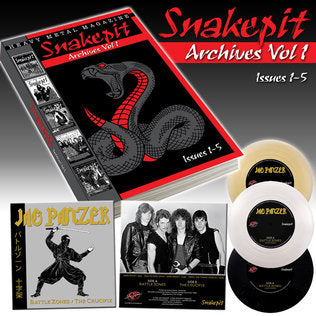"Snakepit Archives Vol. 1 BOOK (Issues 1-5) + Jag Panzer 7"" EP"