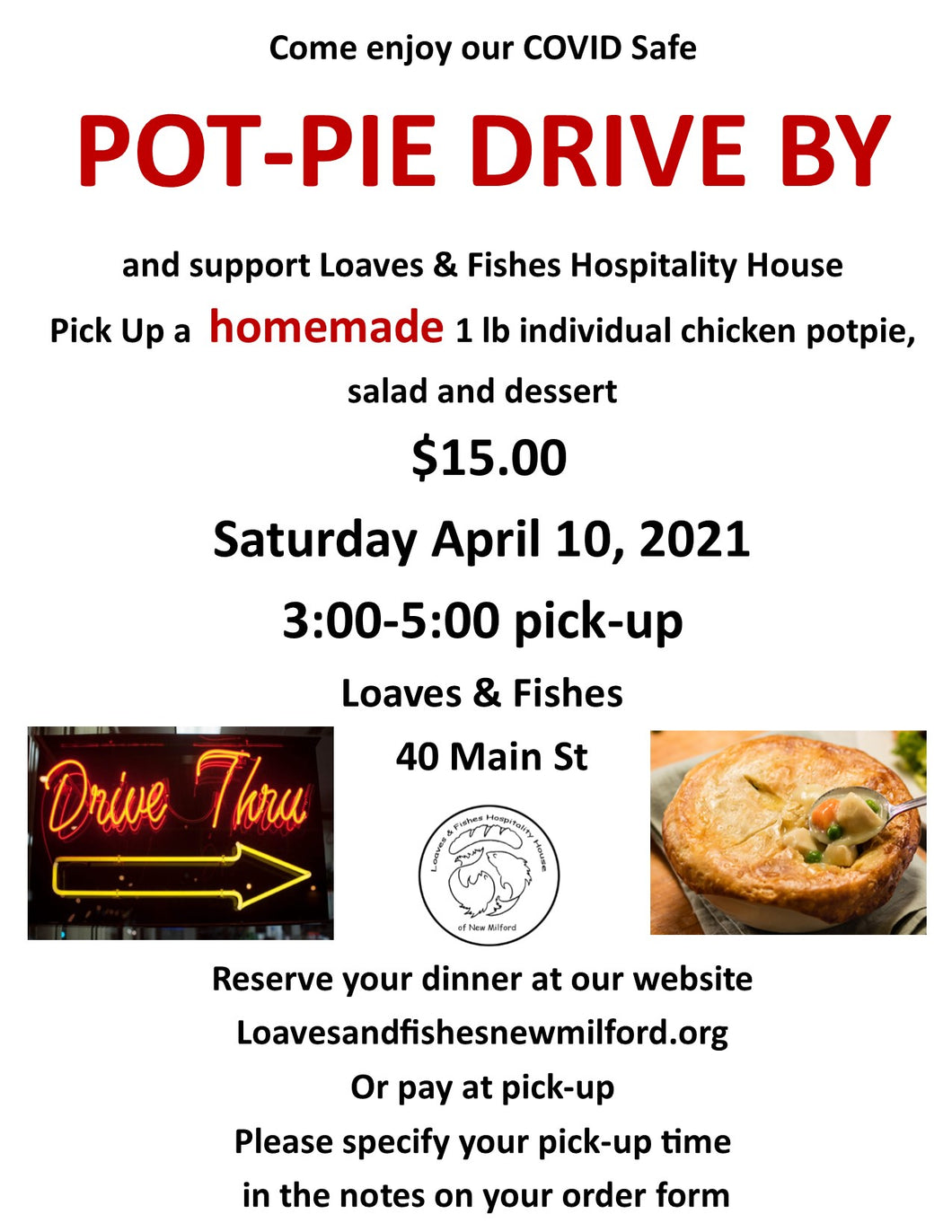 Pot Pie Dinner Fundraiser