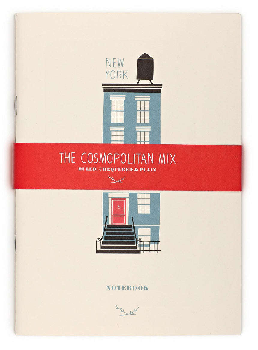 Cosmopolitan Mix, 3 Notizbücher A5 (Berlin, New York, Paris)