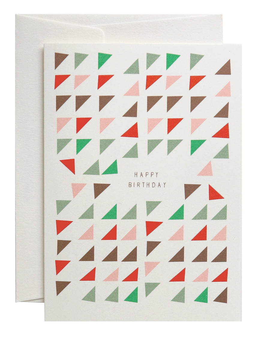 Happy Triangles greeting card