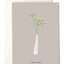 Slim White Vase Greeting Card