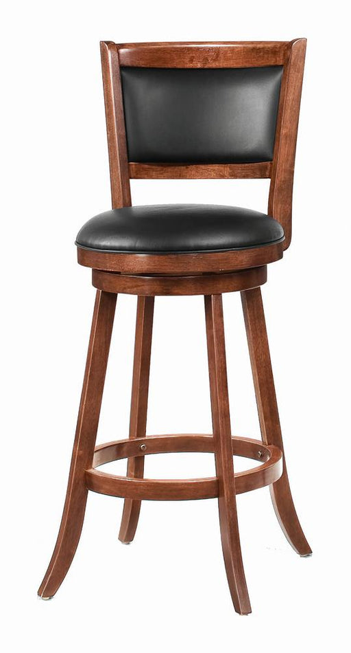 Transitional Chestnut Swivel Bar Stool image