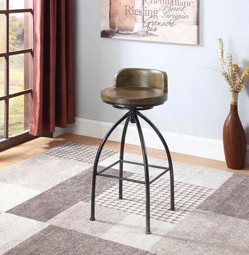 Rustic Swivel Metal Bar Stool image