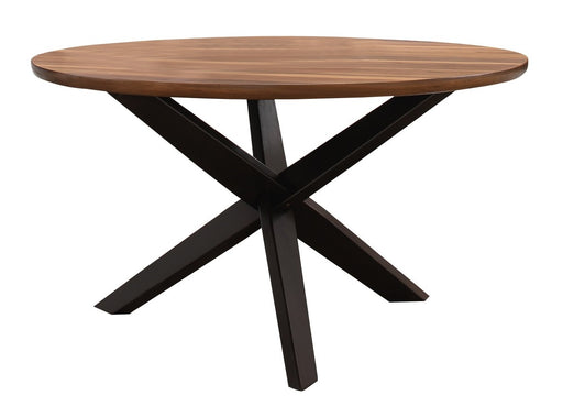 Homelegance Nelina Round Dining Table in Espresso & Natural 5597-53* image