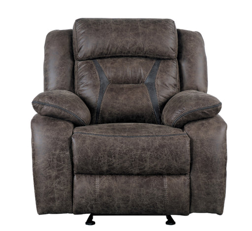 Homelegance Furniture Madrona Glider Reclining Chair in Dark Brown 9989DB-1 image