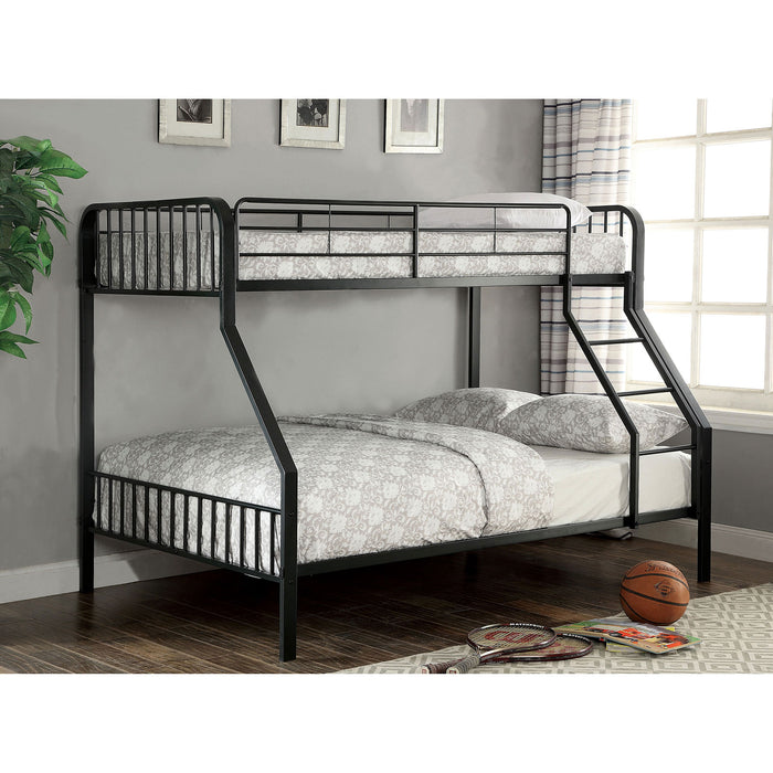 CLEMENT Black Metal Twin/Full Bunk Bed image