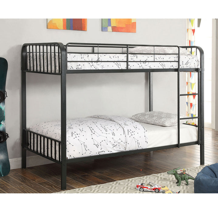CLEMENT Black Metal Twin/Twin Bunk Bed image