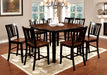 DOVER II Black/Cherry 6 Pc. Counter Ht. Dining Table Set w/ Bench image