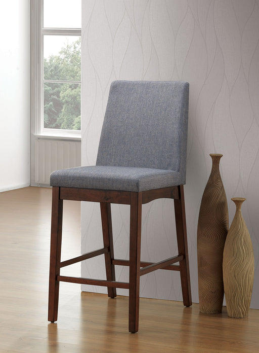 Marten Brown Cherry/Gray Counter Ht. Chair (2/CTN) image