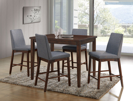 Marten Brown Cherry/Gray 5 Pc. Counter Ht. Dining Table Set image
