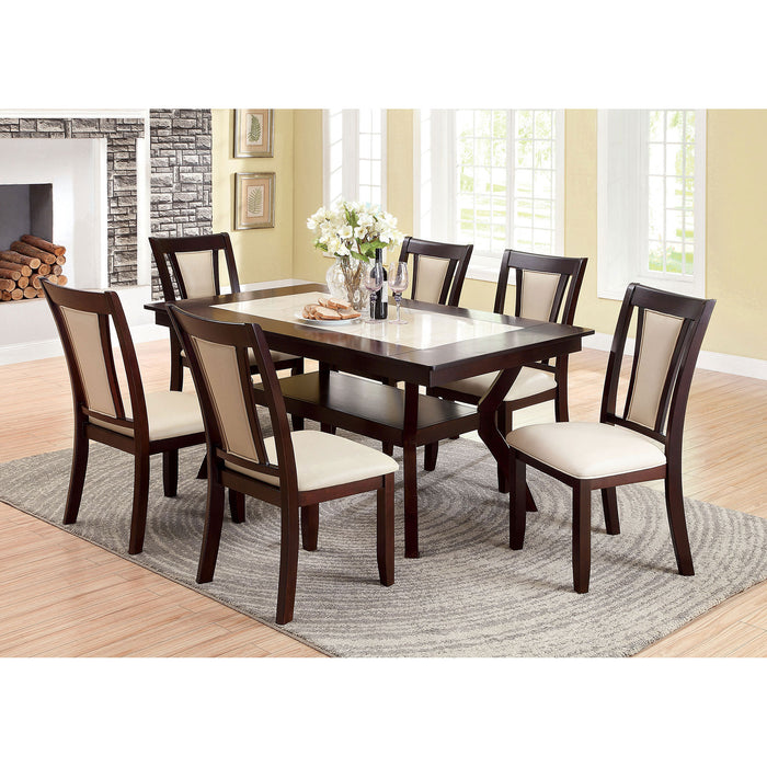 BRENT Dark Cherry 7 Pc. Dining Table Set image